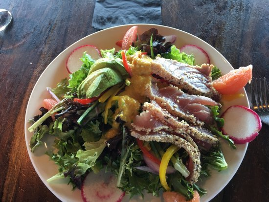 Always my favorite, Ventana Grill's Ahi salad.  My friend makes me bring her here for their Chop
