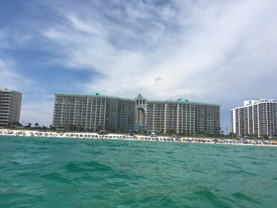 Majestic Sun Condominiums: My daughter took this photo of the property while kayaking. Beautiful!