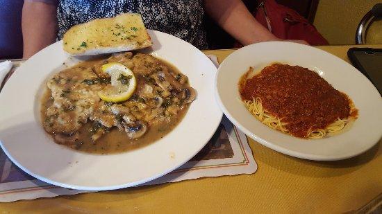 เอลคาโฮน, แคลิฟอร์เนีย: Veal Piccata Dinner