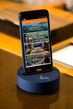 Complimentary handy smartphone in guestroom picture of for Smartphone da hong kong