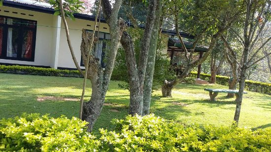 Rukmal Holiday Home: The side view of house and garden