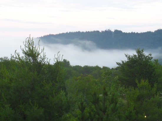 Newry, ME: Fog rolling in - early morning.
