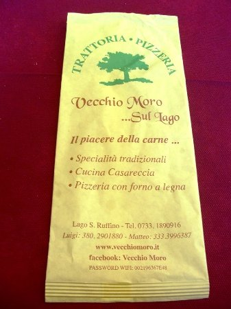 Monte san Martino, Italien: Busta delle posate (particolare)