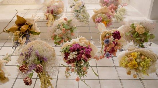 Tokyo Fantastic Omotesando: Tida Flower ドライフラワースワッグ Dried Flower bouquet swag