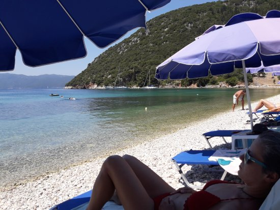 Stavros, Grecja: Poli beach & the legend Takis called the beach manager