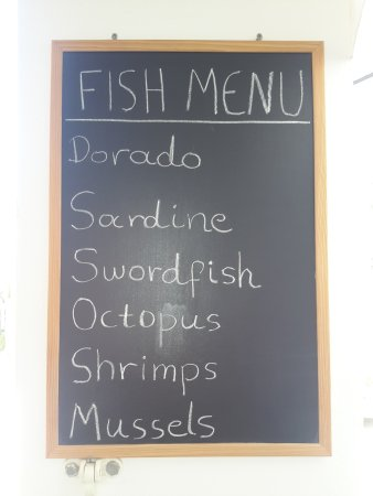 Kamilari, Grecia: FISH MENU