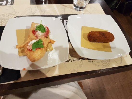 Rigatoni Restaurant and pizzeria: suppli pizzottelle fritte