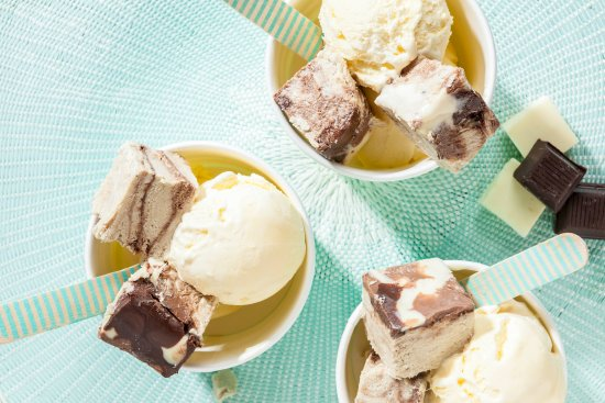 Top your ice cream with halva for the full delicious effect