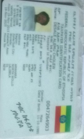 Taxpayer Identification Card From Federal Democratic Republican Of