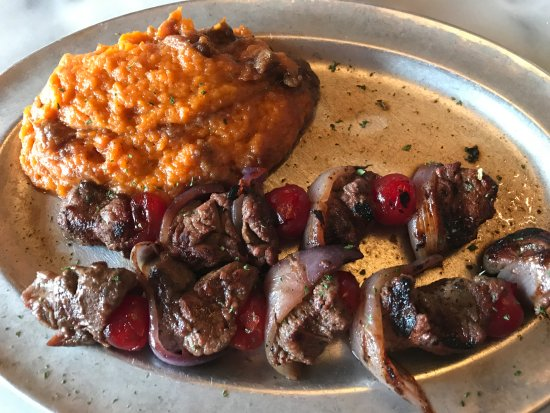The Park Grill: Park Grill Moonshine Cherry Beef Kabobs & Sweet Potato Casserole