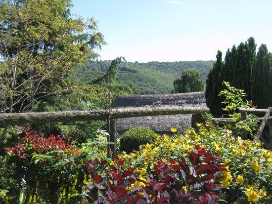 Dunsford, UK: A view across the Teign Valley from the Walled Garden
