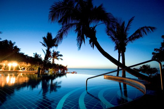 Anantara Bazaruto Island Resort Infinity Pool at Night