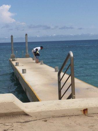 The Money Bar Beach Club: the dock