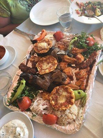 Mixed kebabs