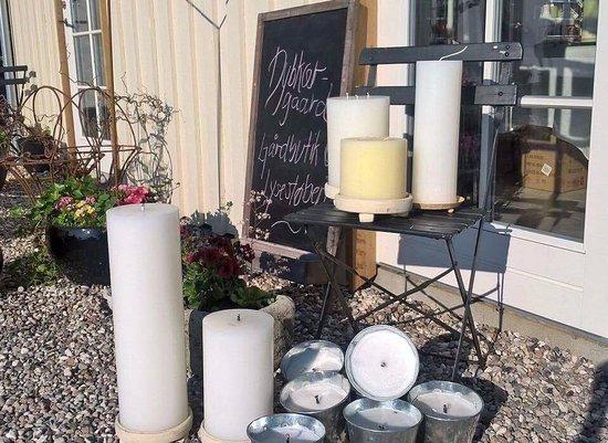 Slagelse, Denmark: Dybkaergaard Farm Shop, Candle Making and Kayak & Bike Rental