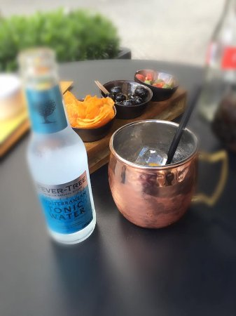 Aalst, Belgium: Copperhead with a Fever Tree Mediterranean - Best in the world @Piazza