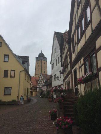 Lohr am Main, Germany: The landscape is from the restaurant at the hotel and the township buildings are from Altstadt L
