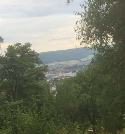 Lohr am Main, Γερμανία: The landscape is from the restaurant at the hotel and the township buildings are from Altstadt L