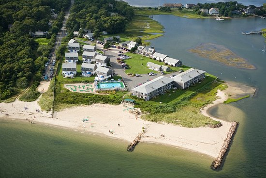 Green Harbor on the Ocean: Aerial view of resort and private beach