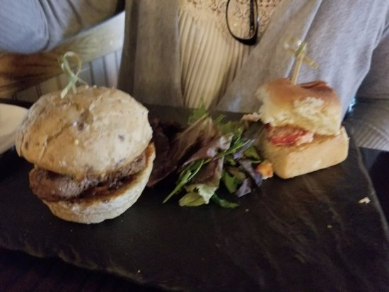 Market Grille: Lobster and Filet Slider