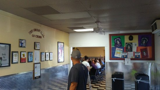 Chino Bandido: wait area... lobby separating dining area and kitchen ordering areas