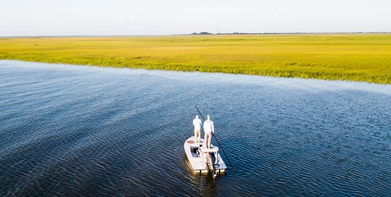 Pawleys Island, SC: Poling the flats of the Low Country