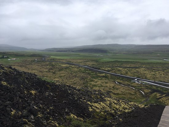Bifrost, Iceland: View north at top of crater