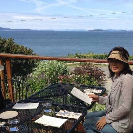 Lummi Island, WA: view north towards the San Juan Islands