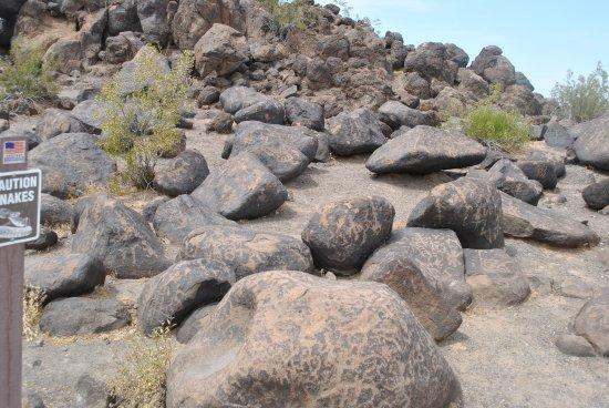 Gila Bend, AZ. Painted Rock Petroglyph Site