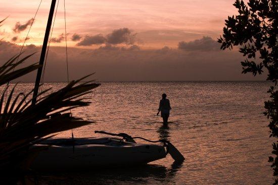 Cayo Espanto: Sunset from paradise