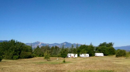 Valernes, Francja: The view from Pardigue campsite