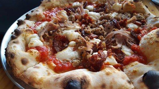 Three Meat Pizza Picture Of Il Forno San Antonio