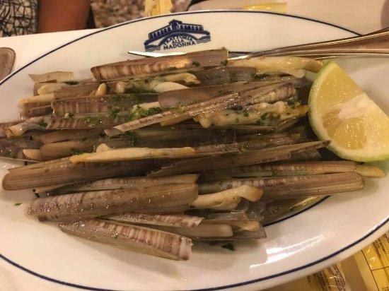 Trattoria alla Madonna: razor clams