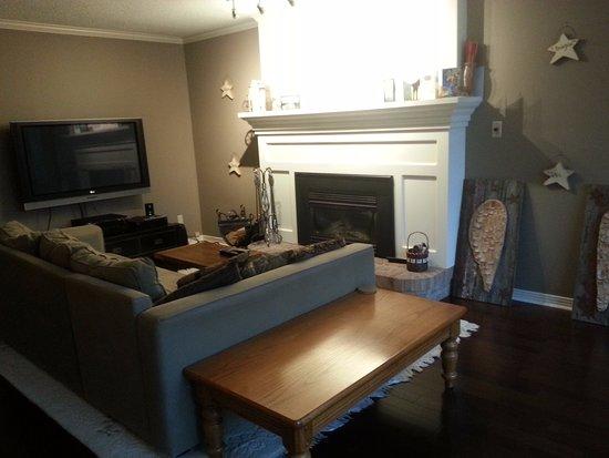 Erin, Canadá: The living room.