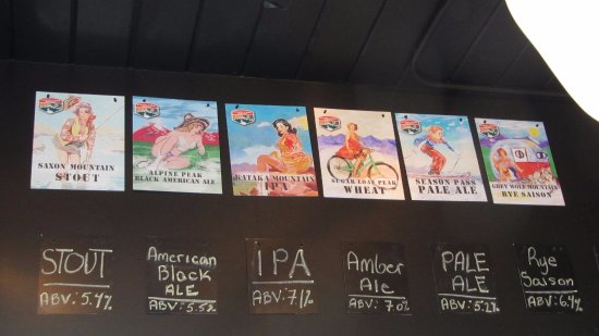 Georgetown, CO: The beers available at Guanella Pass Brewery.