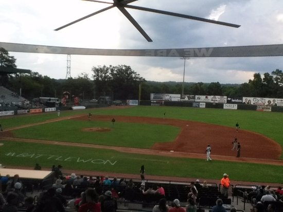 Augusta, GA: Lake Olmstead from the grandstand