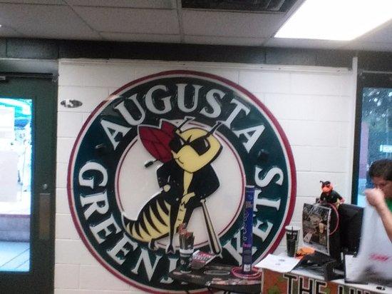 Augusta Greenjackets Logo inside team store