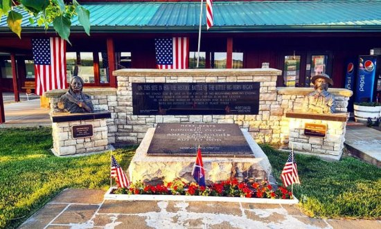Garryowen, MT: Profile shot of the Tomb of the Unknown Soldier outside the front door.