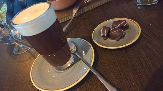 Moira, UK: ... Tia Maria liqueur coffee with delicious chocolates!