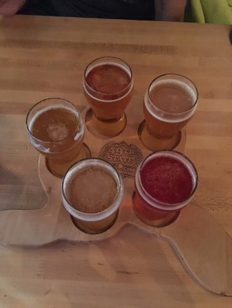 Healy, AK: 49th State Brewing flight