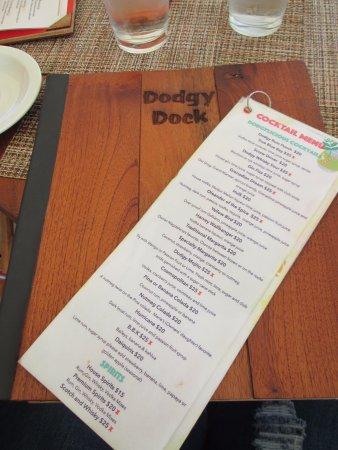 Dodgy Dock Restaurant and Lounge Bar: Menu