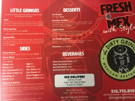 Ogdensburg, NY: New Menu! We added a few customer favorites😀