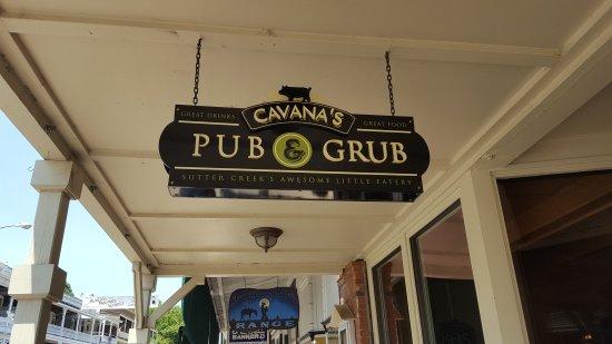 Sutter Creek, CA: Cavana's Pub & Grub