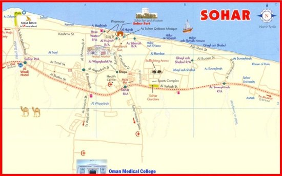 Location Map Picture of Sohar Beach Hotel Sohar TripAdvisor