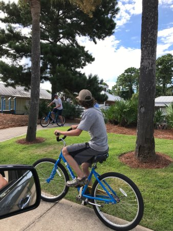 Sandestin Golf and Beach Resort: My son and his friend had a blast fishing and riding bikes.