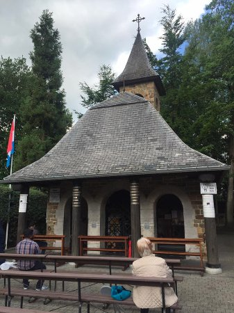 Banneux, Belgium: The Chapel of Apparitions at the site where the Blessed Virgin Mary appeared 8 times in 1933