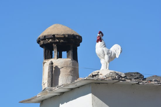 Mairena, España: The rooster may not be real but the chimeneas (chimney) is.