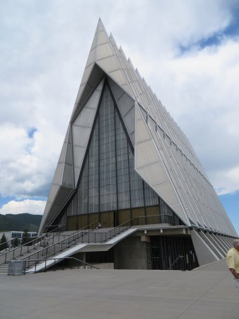 United States Air Force Academy: Outside of the chapel