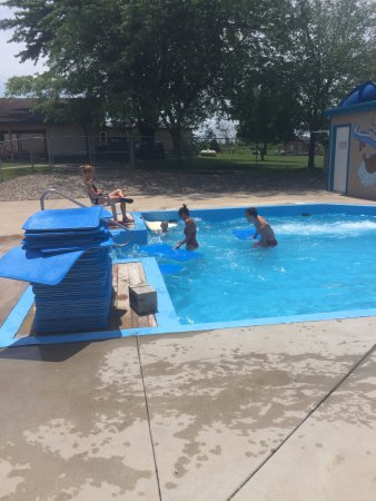 Fremont, WI: The lifeguards interacting with my kids. So cool!