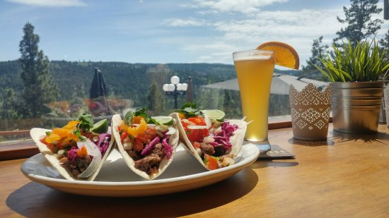 Princeton, Canada: Livinit Vaca Tacos pair with a sleeve of Yellow dog craft brewed WIT.